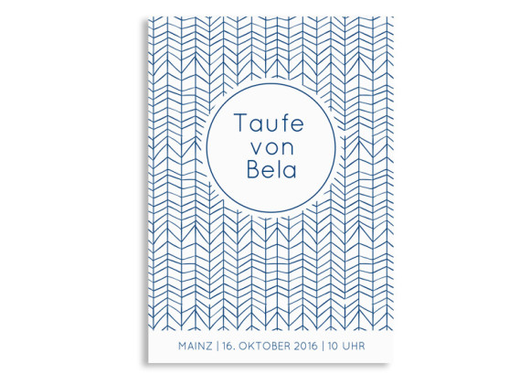 Einladungskarten zur Taufe Bibbi/Bela
