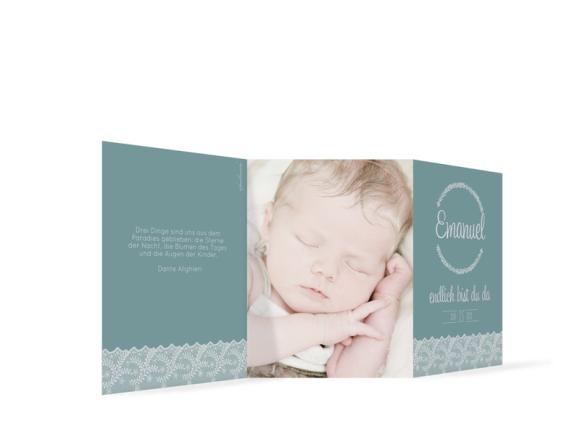 Karten zur Geburt Elisabeth/Emanuel