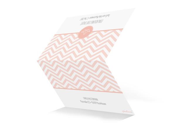 Einladung zur Taufe Motiv Hamptons Origami, Außenansicht, Farbversion: apricot