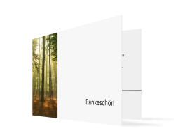 Trauer Danksagungskarte Wald (Klappkarte)