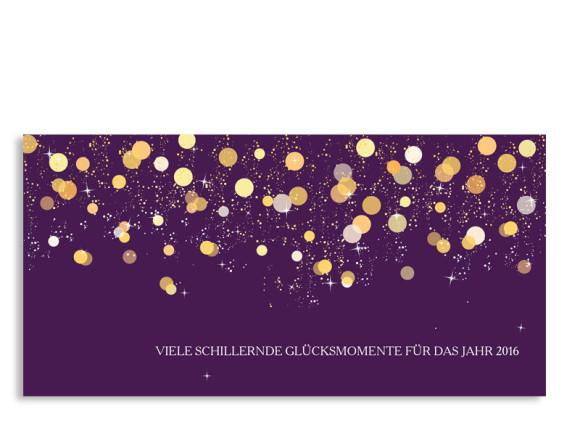 Neujahrskarten Schillernd (Postkarte)