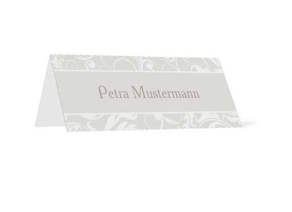 Tischkarten zur Hochzeit Dubai (Klappkärtchen)