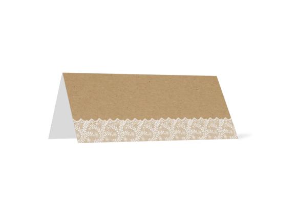 Tischkarte zur Hochzeit, Motiv: Gibraltar, Rückseite, Farbvariante: weiß