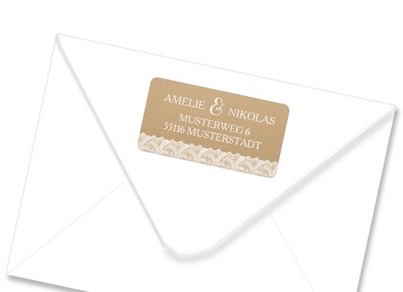 Adressetiketten , Motiv: Gibraltar, mit Briefhülle, Farbvariante: weiss