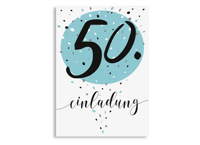 Einladung Zum 50 Geburtstag Konfetti