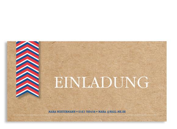 Geburtstagseinladungen Fähnchen (Postkarte)