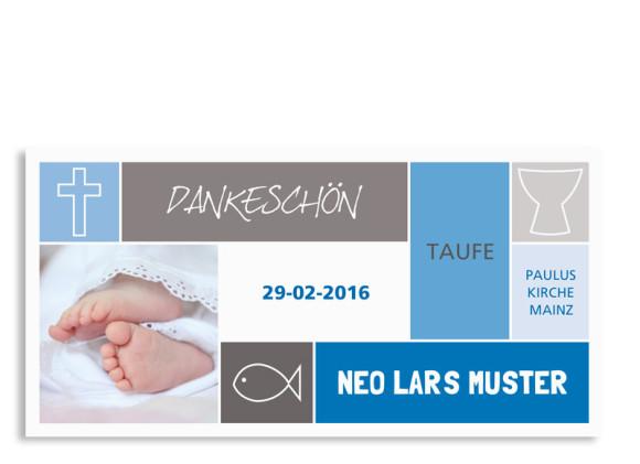 Taufdanksagungen Nora/Neo (Postkarte)