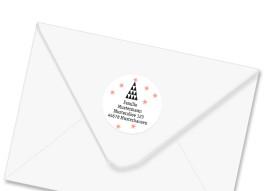 Adress-Aufkleber Origami (rund)