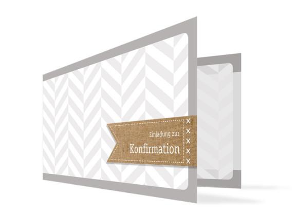 Einladungen zur Konfirmation Pattern (Klappkarte)
