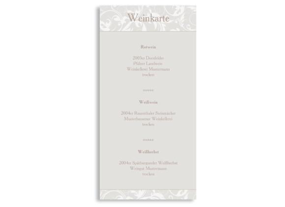 Hochzeits-Menükarte Dubai (DIN Lang-Karte)