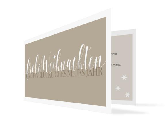 Firmen-Weihnachtskarte Frohe Weihnachten