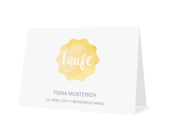 Einladungskarten zur Taufe Sonne