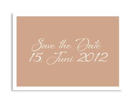 Save-The-Date-Hochzeitskarte Verona (Postkarte A6) Beige