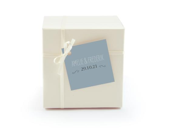 Geschenkanhänger, Motiv: Rotterdam, Aussenansicht, Farbvariante: blau