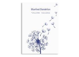 Trauerkarten Pusteblume Blau