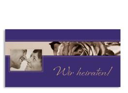Hochzeitseinladung Delhi (Postkarte, mit Foto)