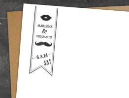 Hochzeit Stempel Moustache