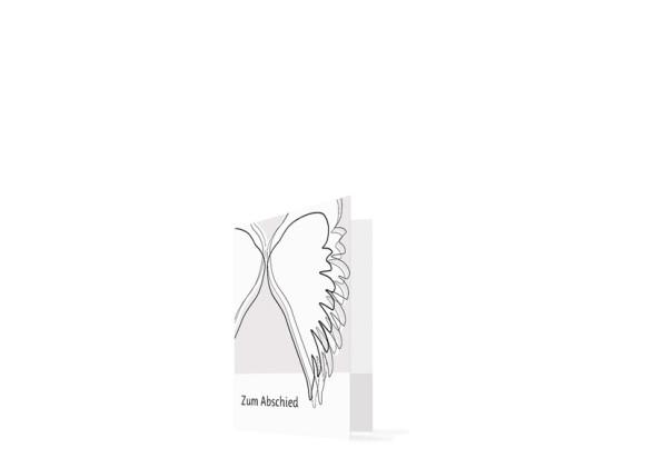 Trauerbilder Flügel (Klappkarte)