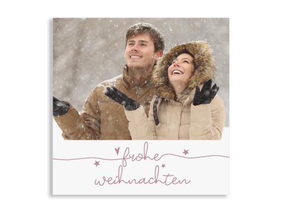 """Foto-Weihnachtskarte """"Fröhliche Weihnachten"""" (Quadratische Postkarte)"""