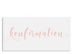 Einladung zur Konfirmation Calligraphy