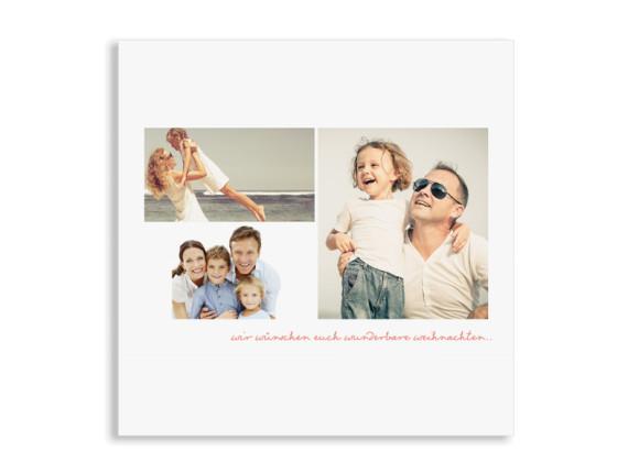 Weihnachtskarte Pure White (Postkarten, quad)