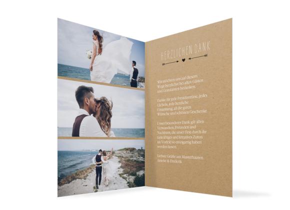 Danksagung Hochzeit (Klappkarte C6), Motiv: Rotterdam natural, Innenansicht, Farbvariante: schwarz