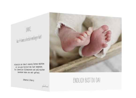 Geburtskarte Fotokarte, Außenansicht