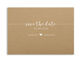 "Save-the-Date ""Gent Natural"""