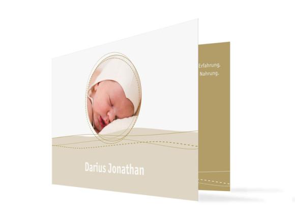 Geburtskarte Deborah/Darius (Klappkarte)