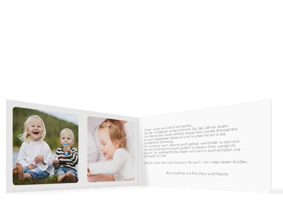 Innenansicht, Karten zu Weihnachten Ava/Avery, Farbversion: rot