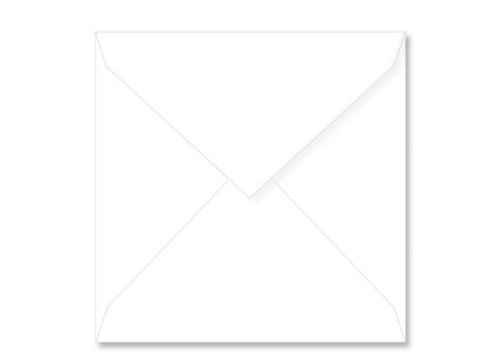 Umschlag quadratisch (125 x 125 mm), white