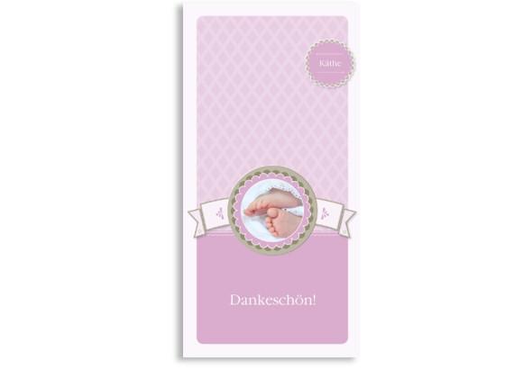 Danksagungen zur Taufe Käthe/Klaas (Postkarte)