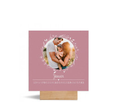 """Foto-Tischkalender """"Blumenkranz"""" 150x150 mm altrosa"""