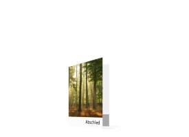 Sterbebilder Wald (Klappkarte) Braun/Weiß