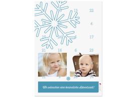Foto-Adventskalender Eiskristall (DIN A4) Blau