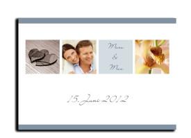 Save-The-Date-Karte Saint Tropez zur Hochzeit (Postkarte A6) Blau