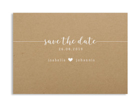 "Save-the-Date ""Gent Natural"" weiss"
