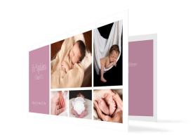 Babykarte Efie/Eddy (Klappkarte DL) Brombeer