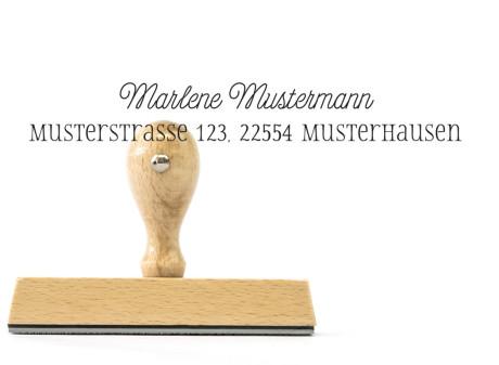 """Familien-Stempel """"Hannover"""" (Holzstempel), ca. 105 x 20 mm, personalisiert"""