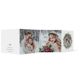 Weihnachtskarte Wintereinzug Leporello Quadratisch (3-fach gefalzt)