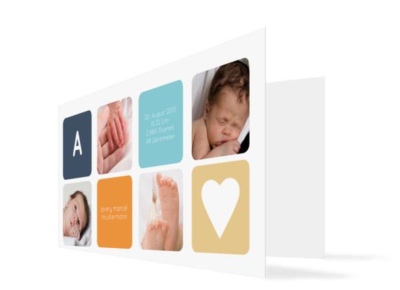 Geburtskarte Ava/Avery (Klappkarte)