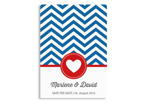Save The Date Hamptons Heart