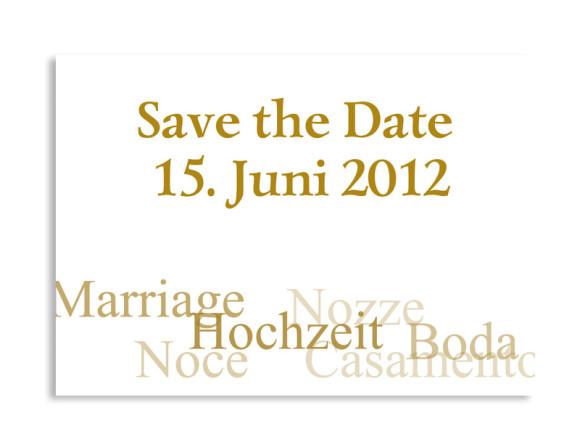 Save-The-Date-Hochzeitskarte Casablanca (Postkarte A6)