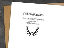Adress-Stempel Naturgold (Weihnachten)