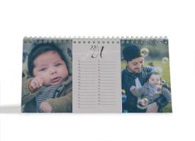 "Choose your Pics Fotokalender ""Jahresbegleiter"" aubergine"