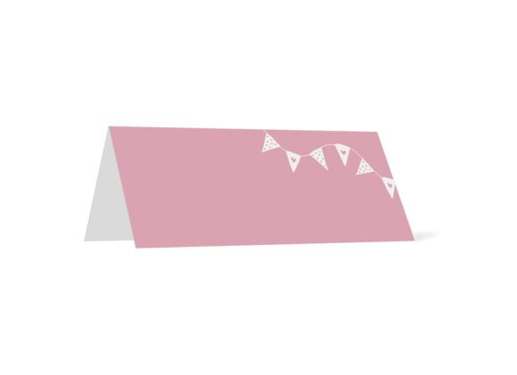 Tischkarte, Motiv: Malmö, Rückseite, Farbvariante: rosa