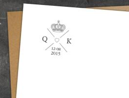 Hochzeitsstempel Kings & Queens