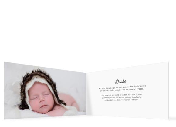 Innenansicht der Fotokarten zur Geburt