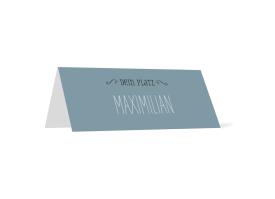 """Tischkarten zur Hochzeit """"Rotterdam"""" blau"""