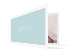 Taufeinladung Tilda/Till Eisblau